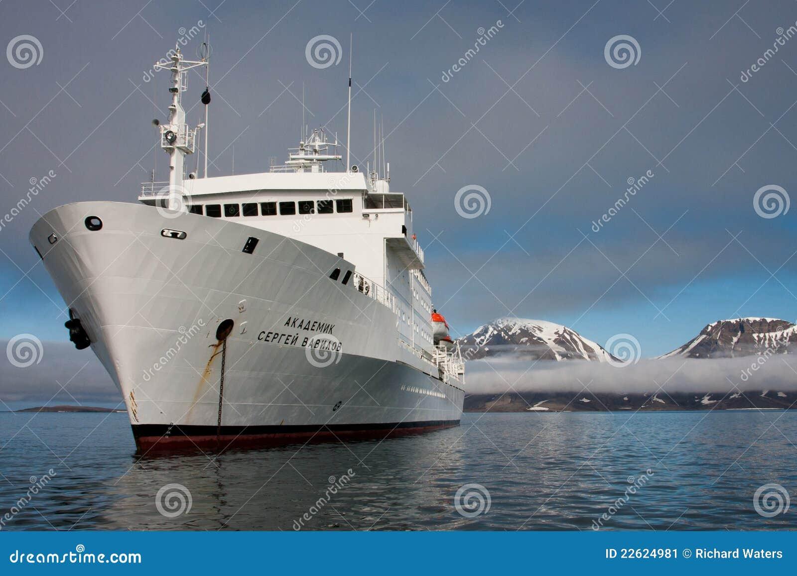 Rejsu icebreaker biegunowy statek