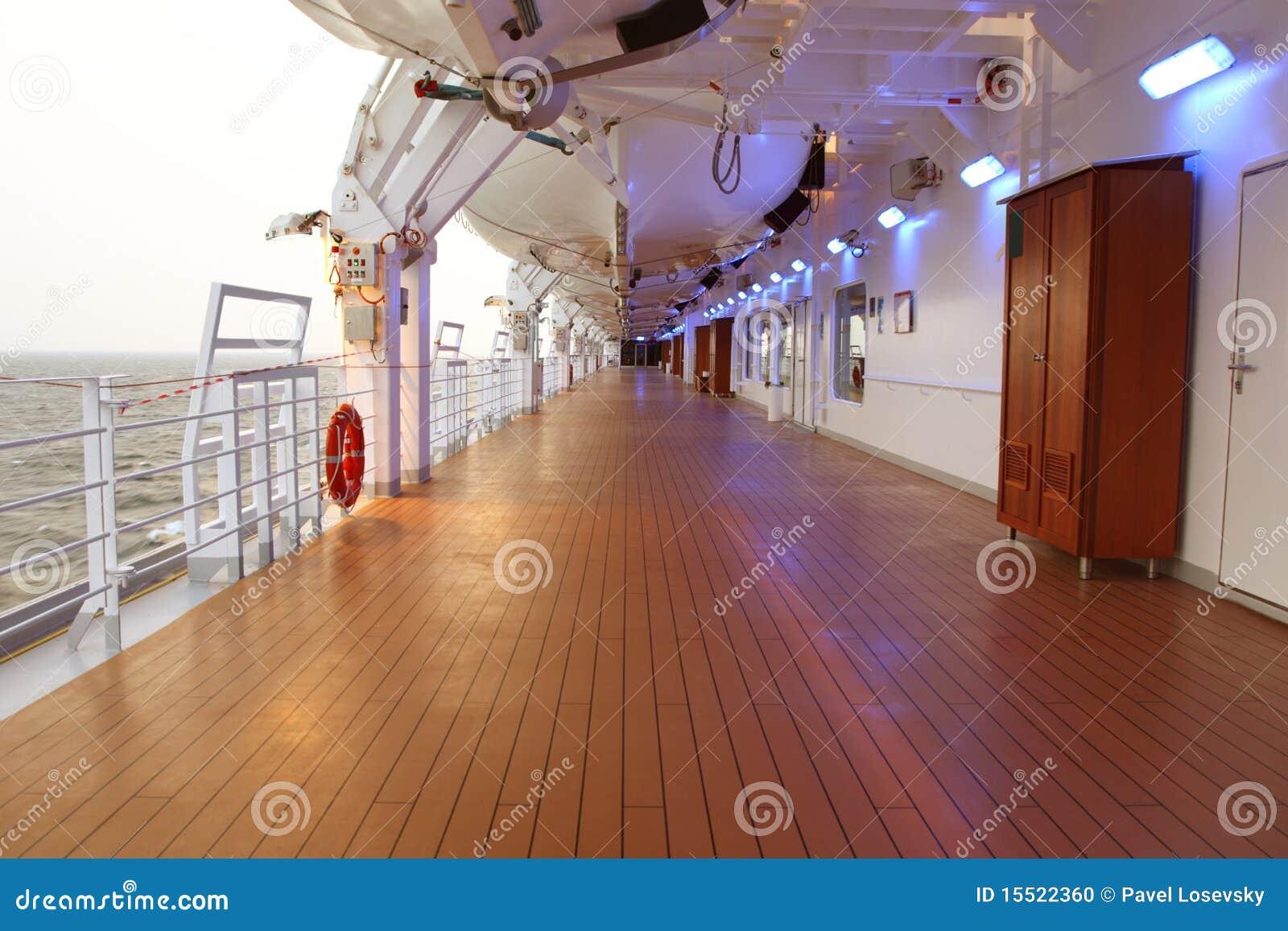 Rejsu pokładu podłoga statek obracał drewnianego