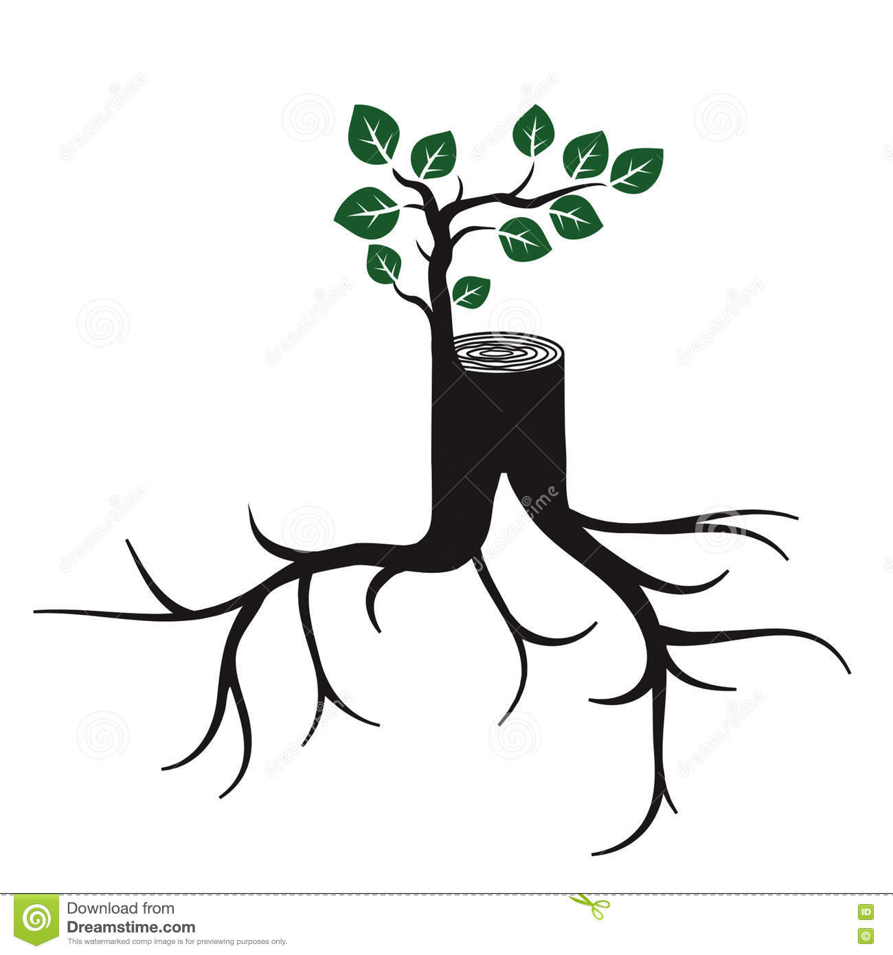 plant sprout cartoon