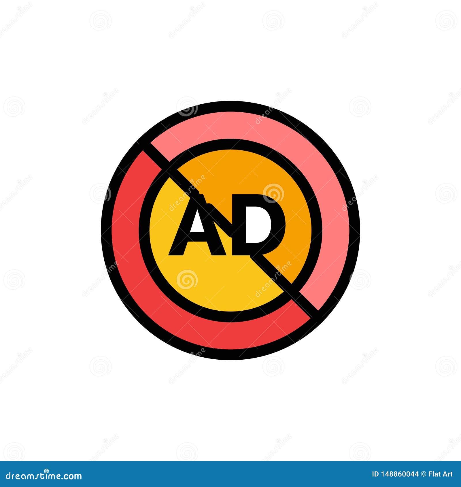 Reklama, reklama blok, reklama, reklama, Blokowa Płaska kolor ikona Wektorowy ikona sztandaru szablon