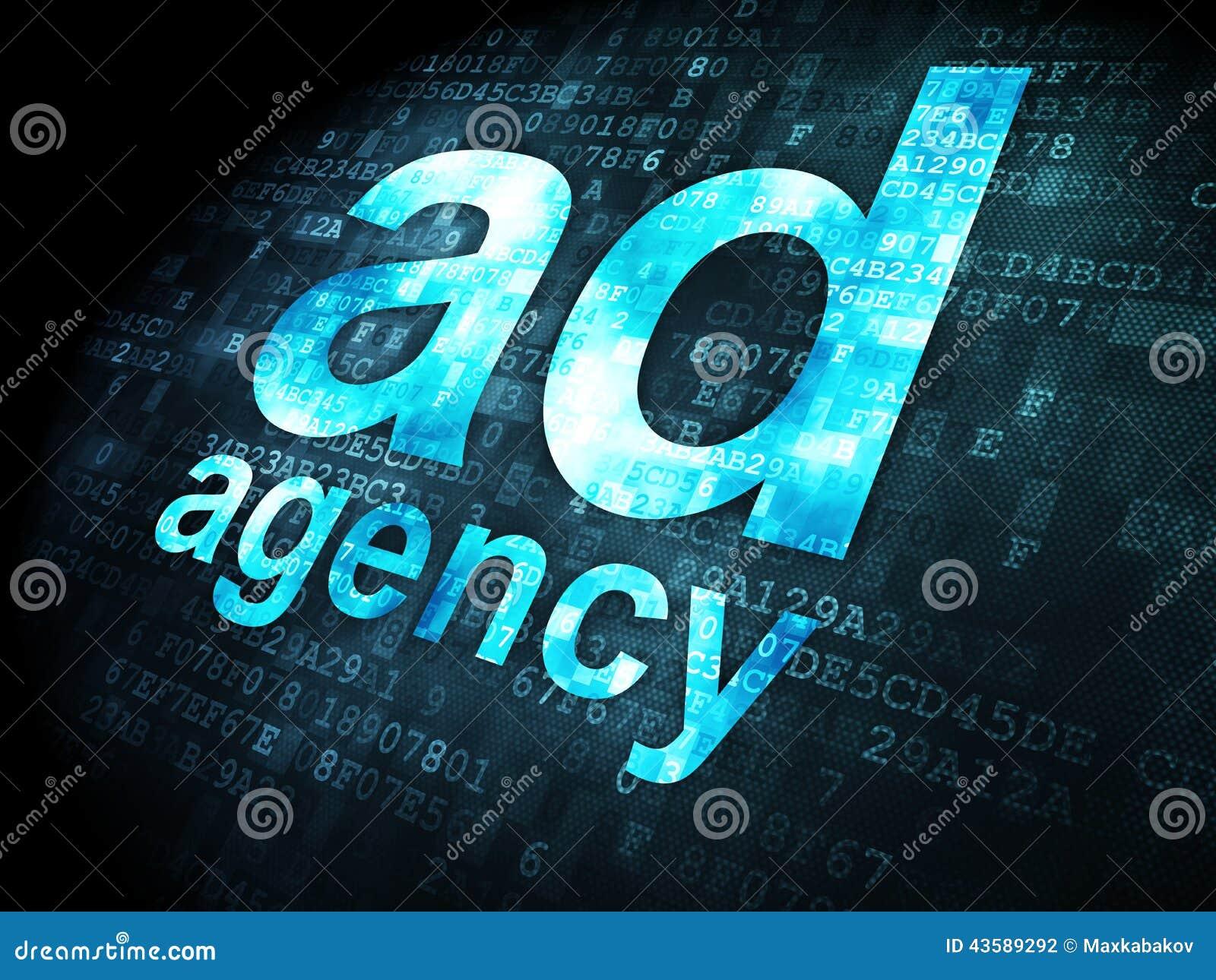 Reklamowy pojęcie: Agencja Reklamowa na cyfrowym