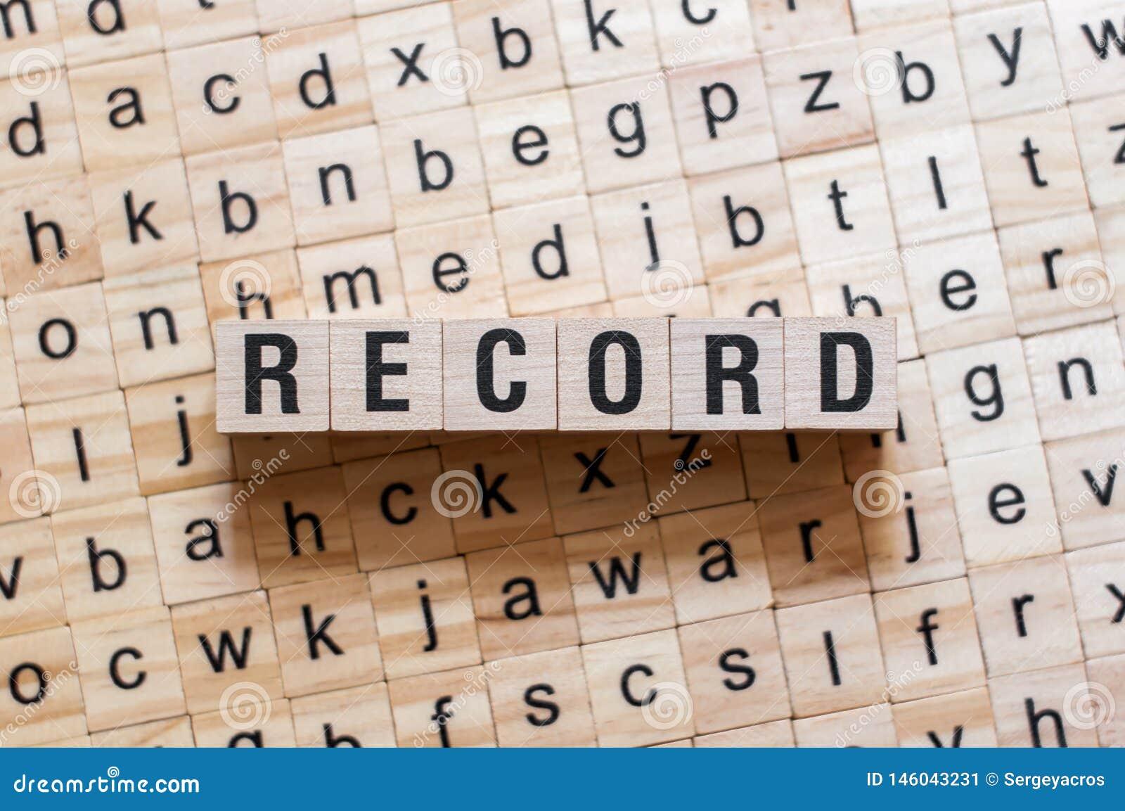 Rekord- ordbegrepp