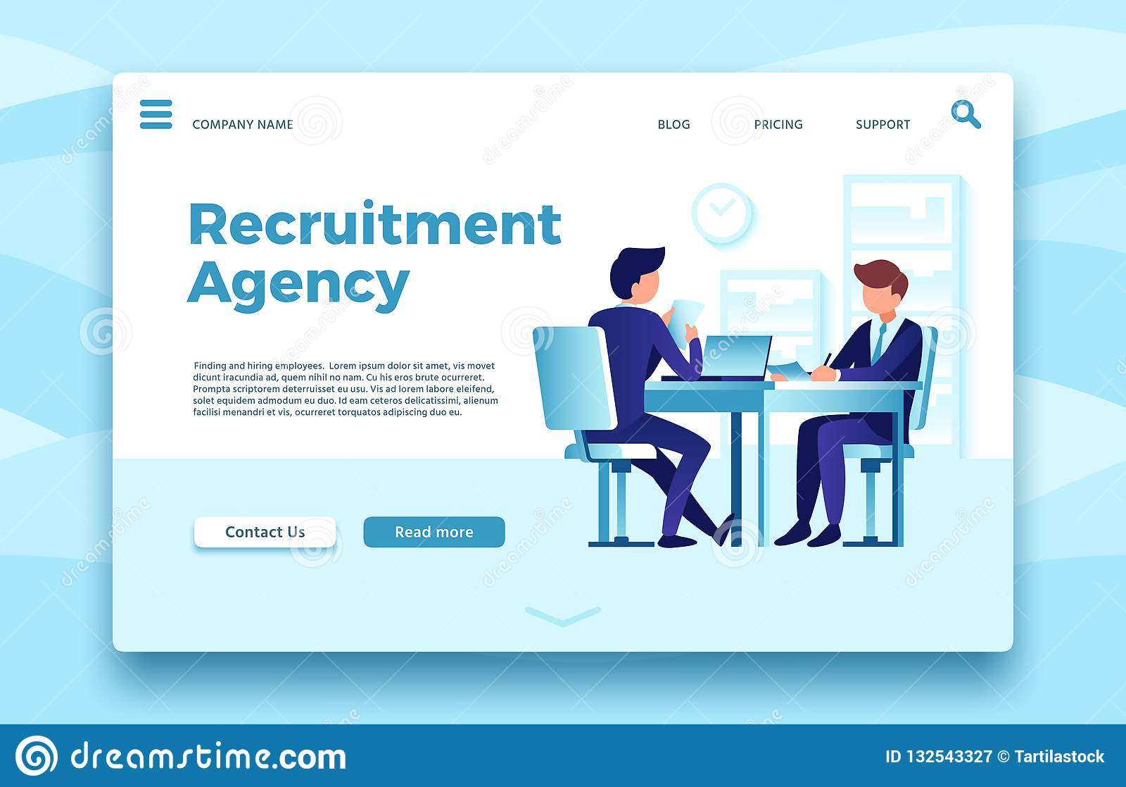 Rekrutacyjna agencja Biznesowa zatrudnieniowa lądowanie strona, znalezienie i zatrudniać pracownik agencje, online jesteśmy usytu