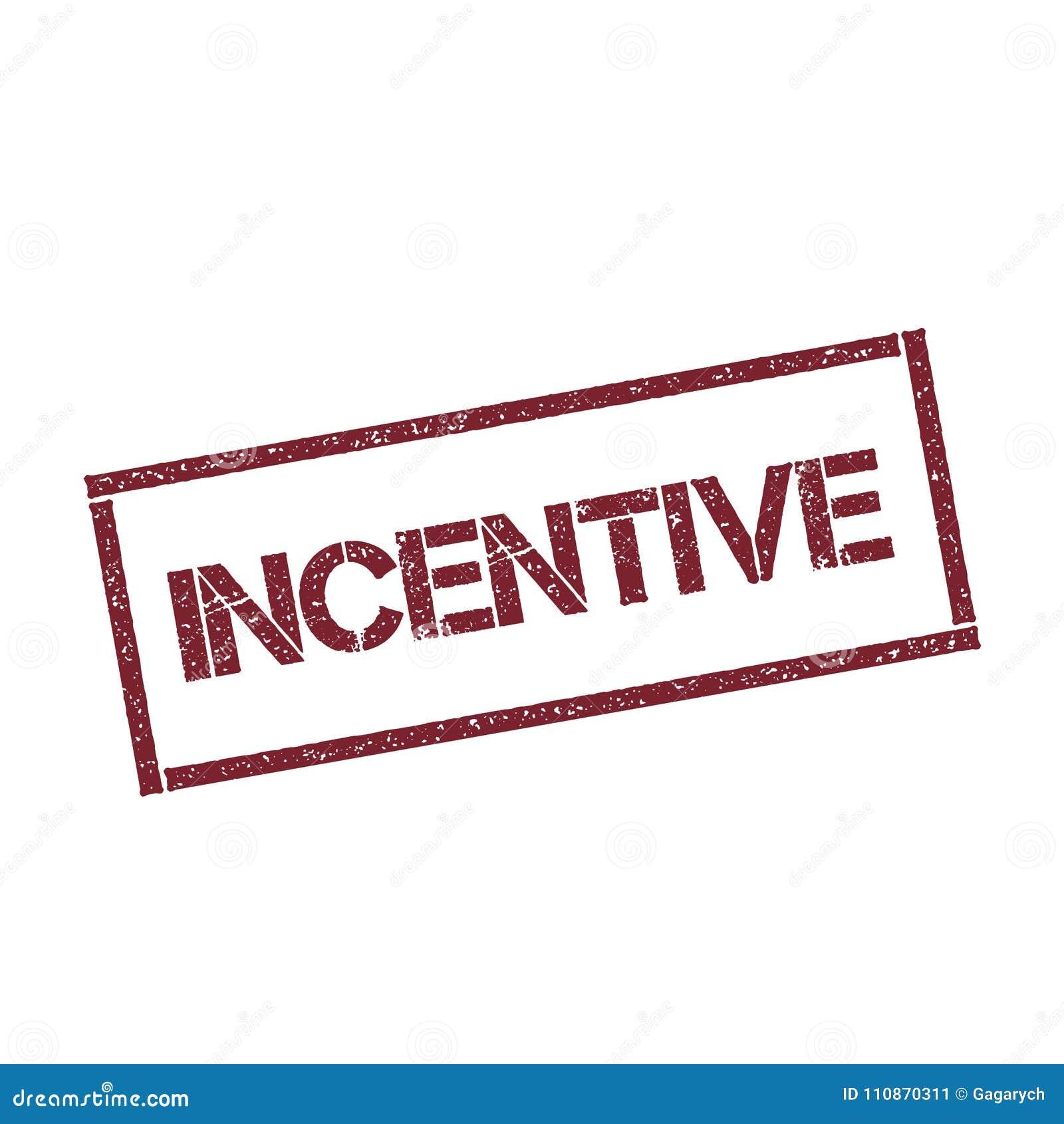 Rektangulär stämpel för incitament
