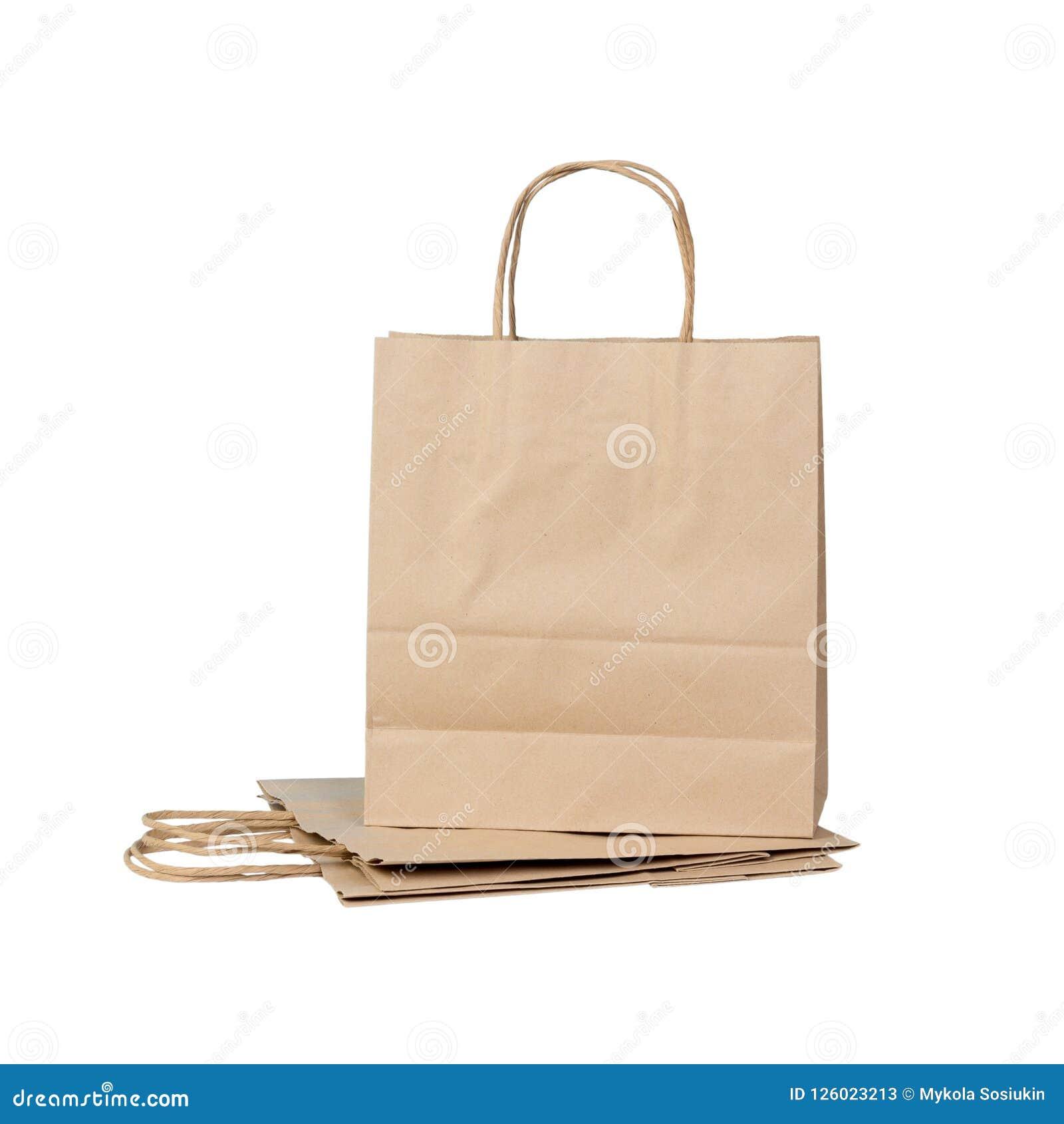 Rekupereerbare die document zakken op witte achtergrond worden geïsoleerd