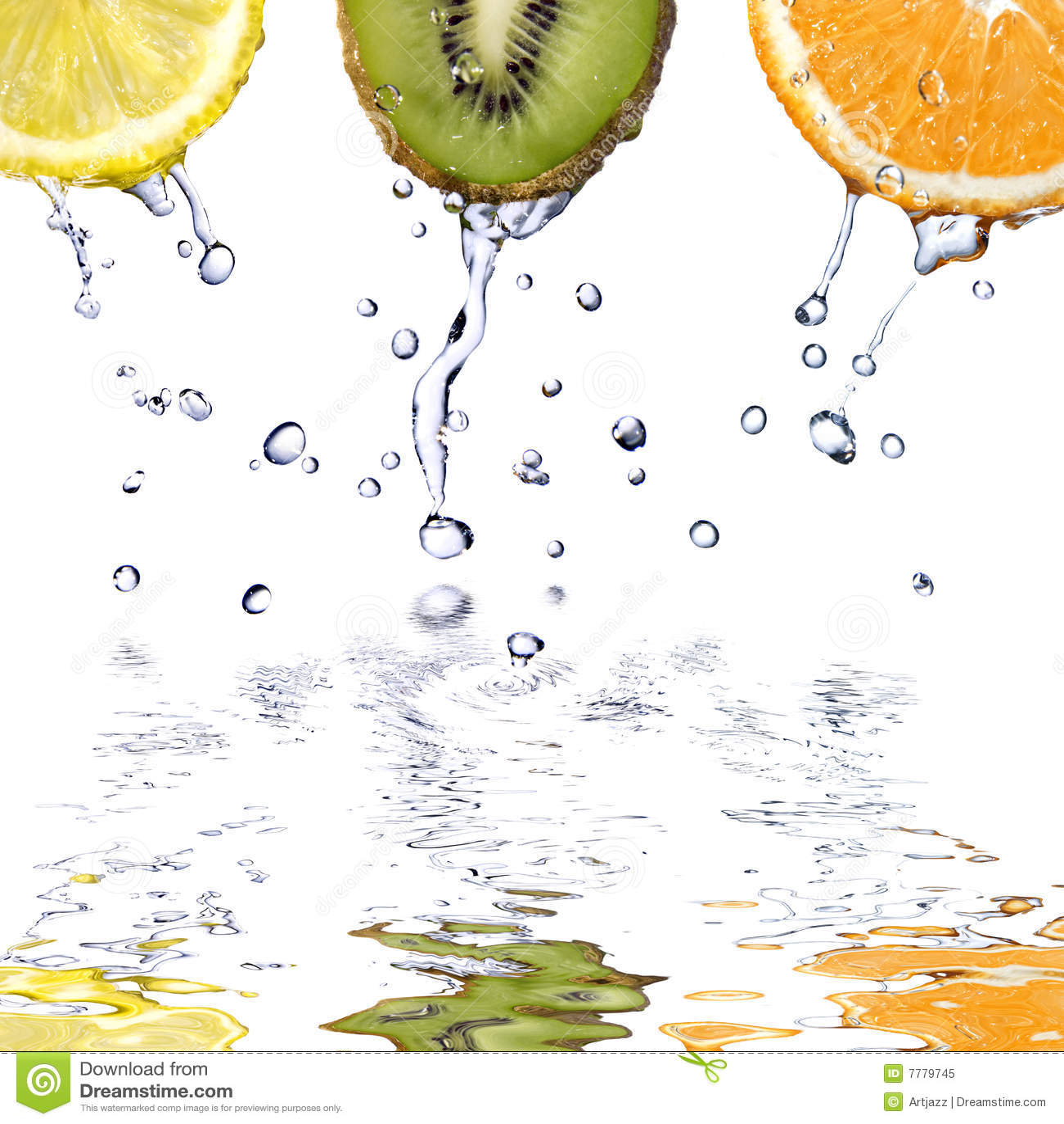 Relâche le blanc de l eau d isolement par fuits frais