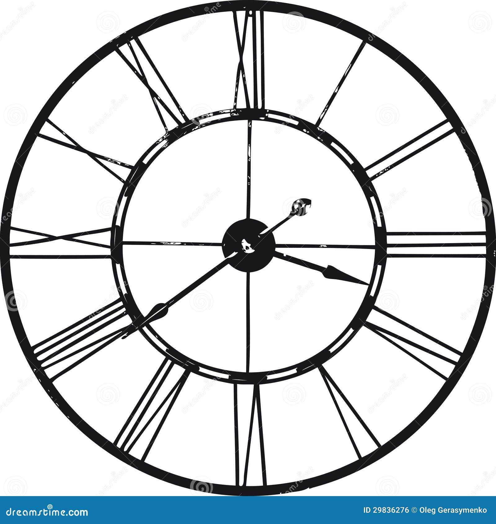 Relógio antigo sobre o branco