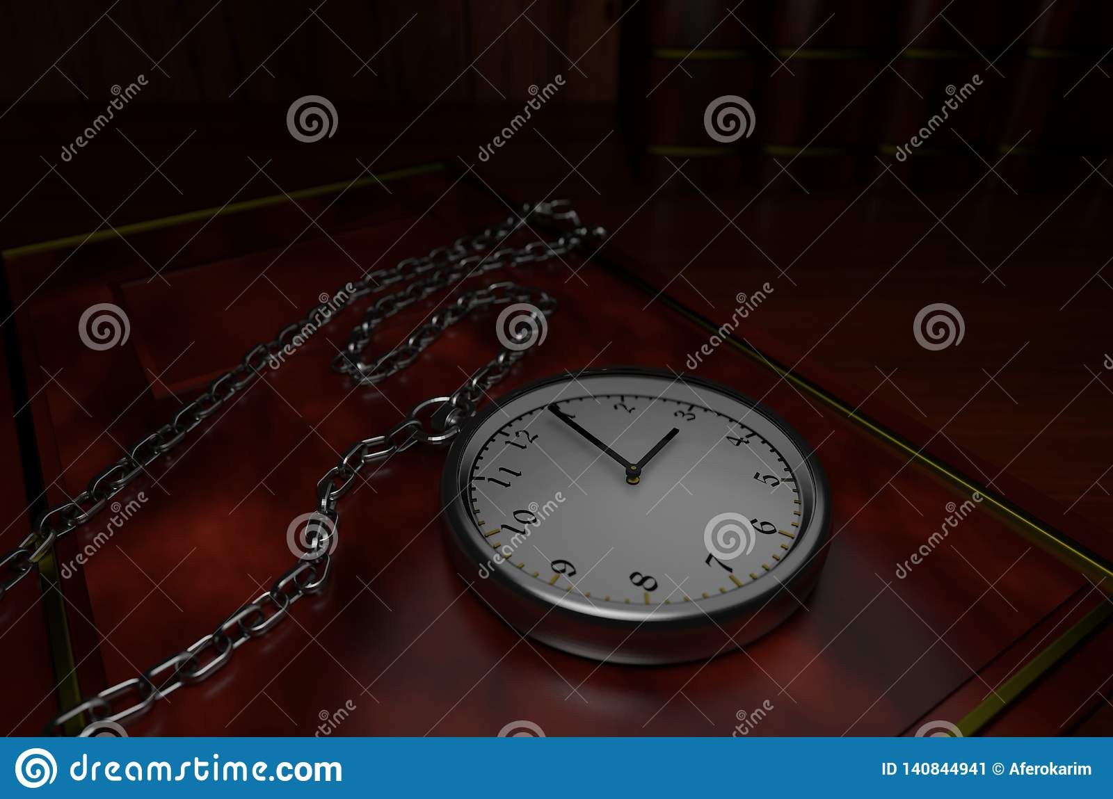 Relógio de bolso de prata no livro clássico