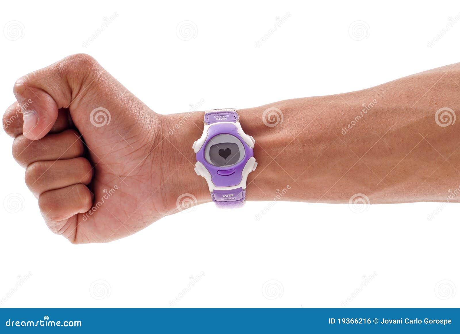 Relógio do monitor de coração