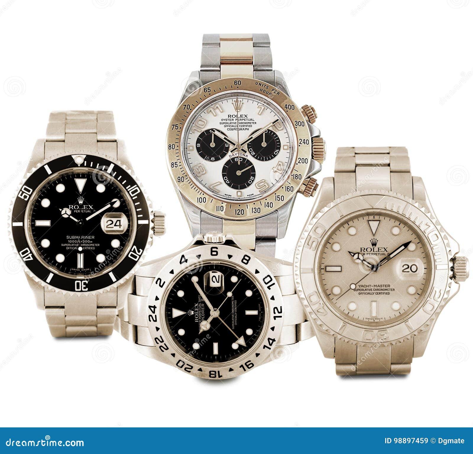 fef2dd2dd61 Relógios de Rolex imagem de stock editorial. Imagem de timepiece ...