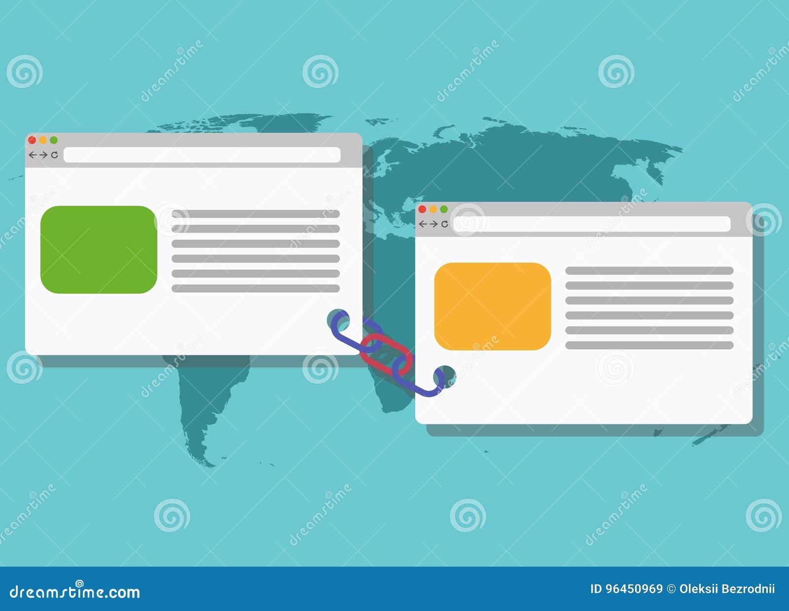 Relação conectada ilustração blogging da construção da relação