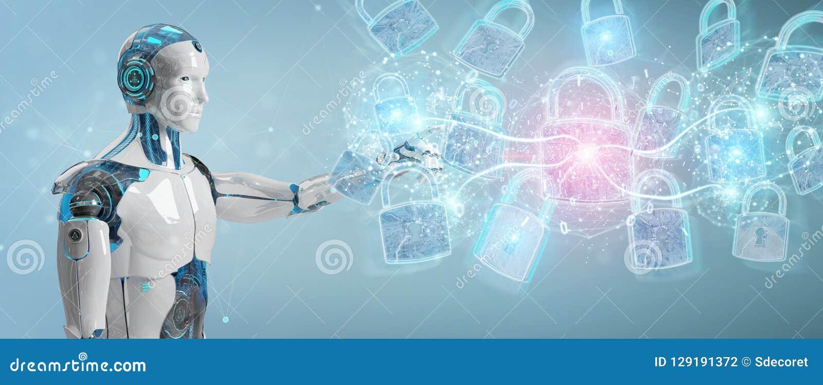 Relação da proteção de segurança da Web usada pela rendição do robô 3D