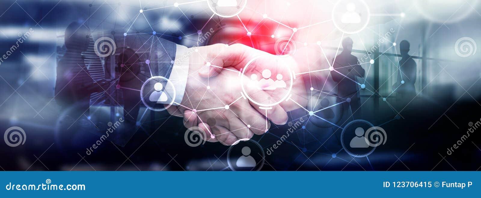 Relação dos povos e estrutura de organização Media sociais Conceito da tecnologia do negócio e de comunicação