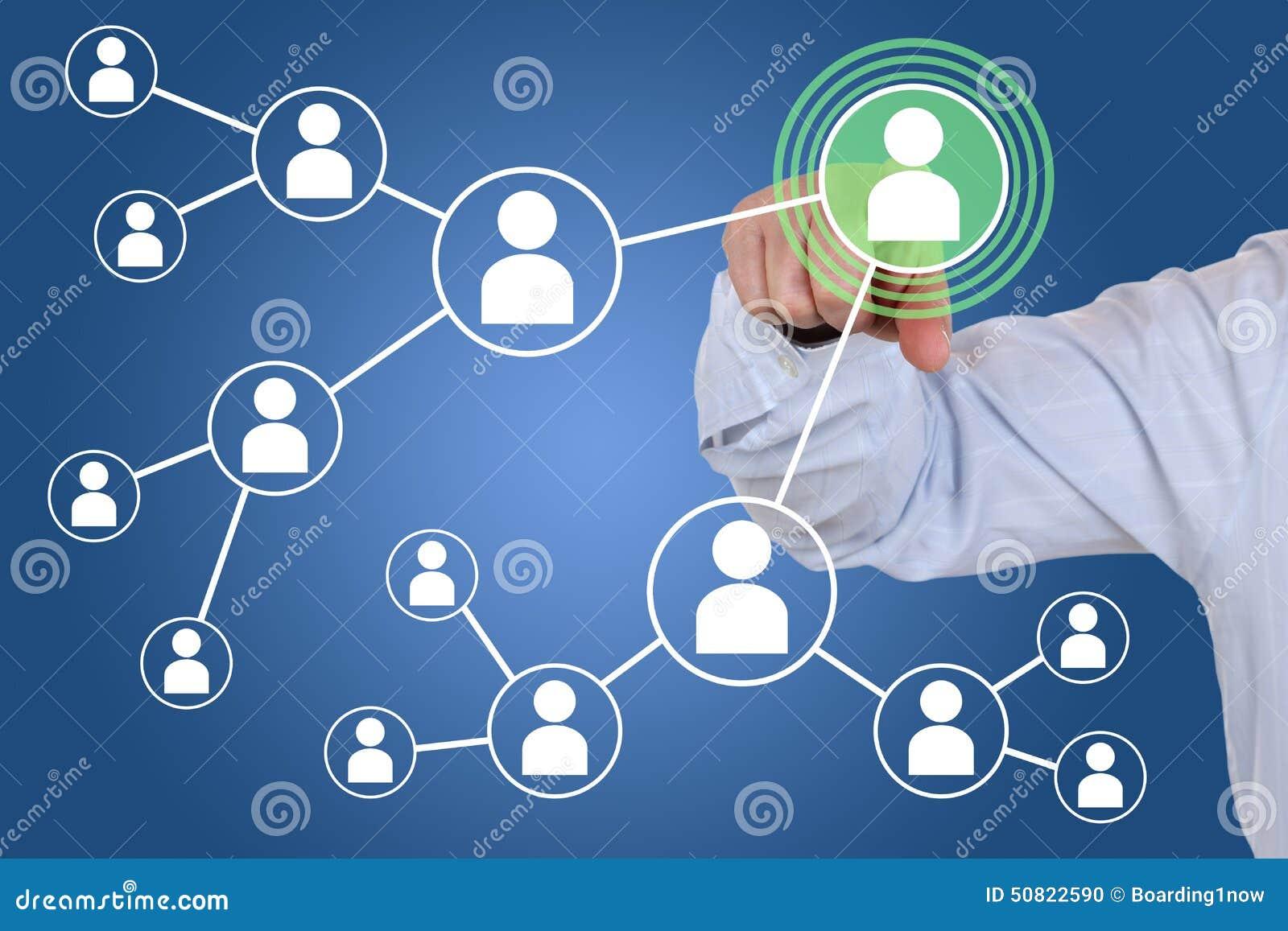 Relaciones y contactos en red social