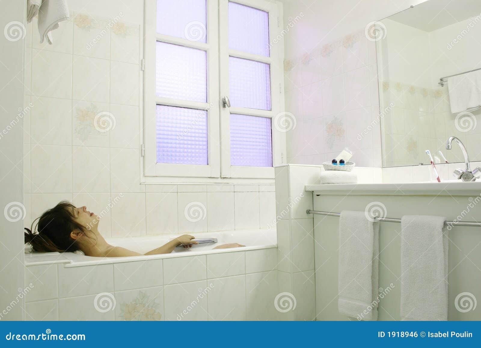 Relajación en un baño