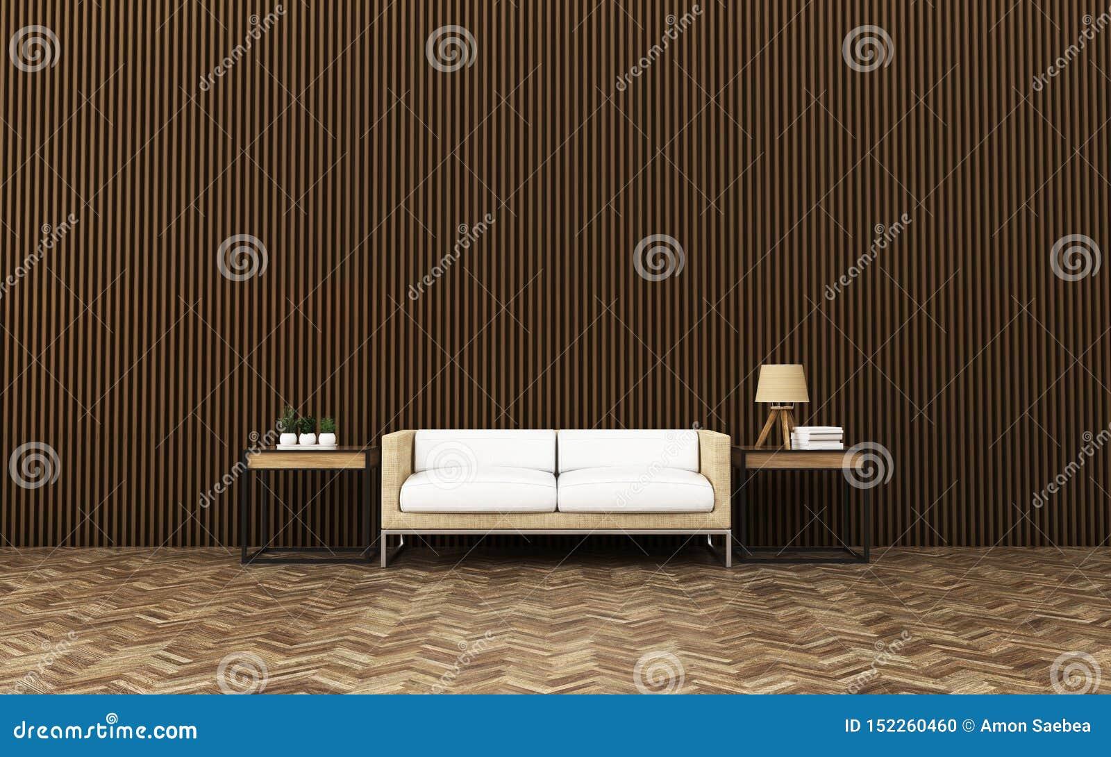 Relaksuje przestrzeń w kondominium 3 d obraz wewn?trzny salon