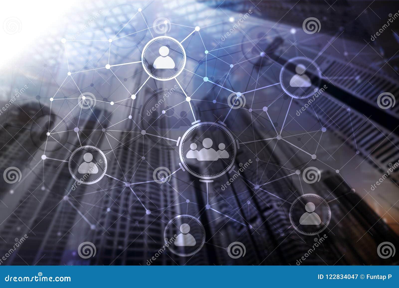 Relation de personnes et structure d organisation Medias sociaux Concept de technologie d affaires et de communications