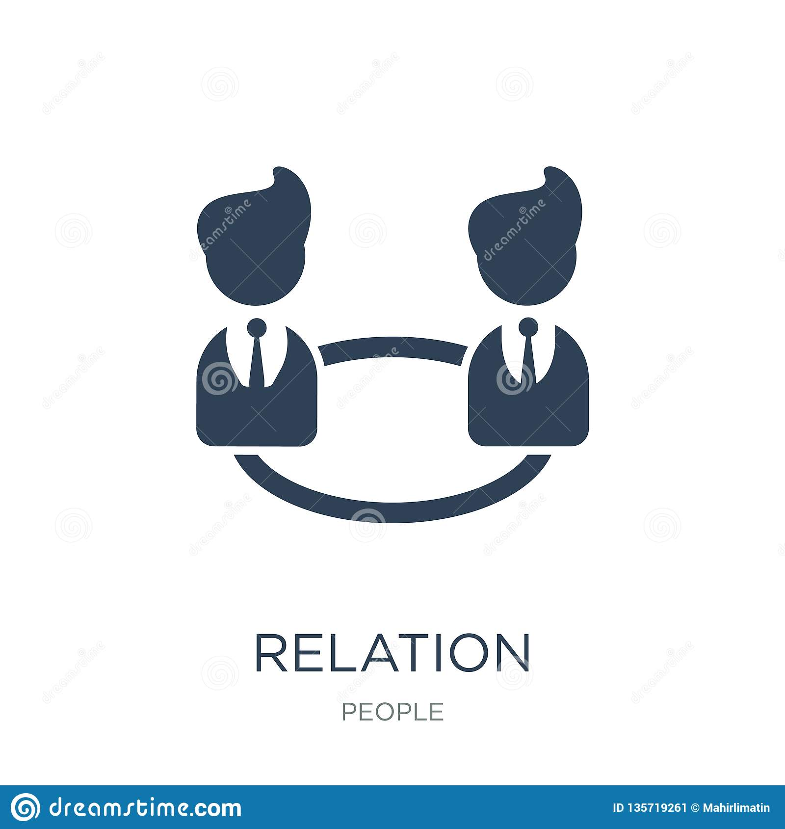 relation icon in trendy design style. relation icon isolated on white background. relation vector icon simple and modern flat