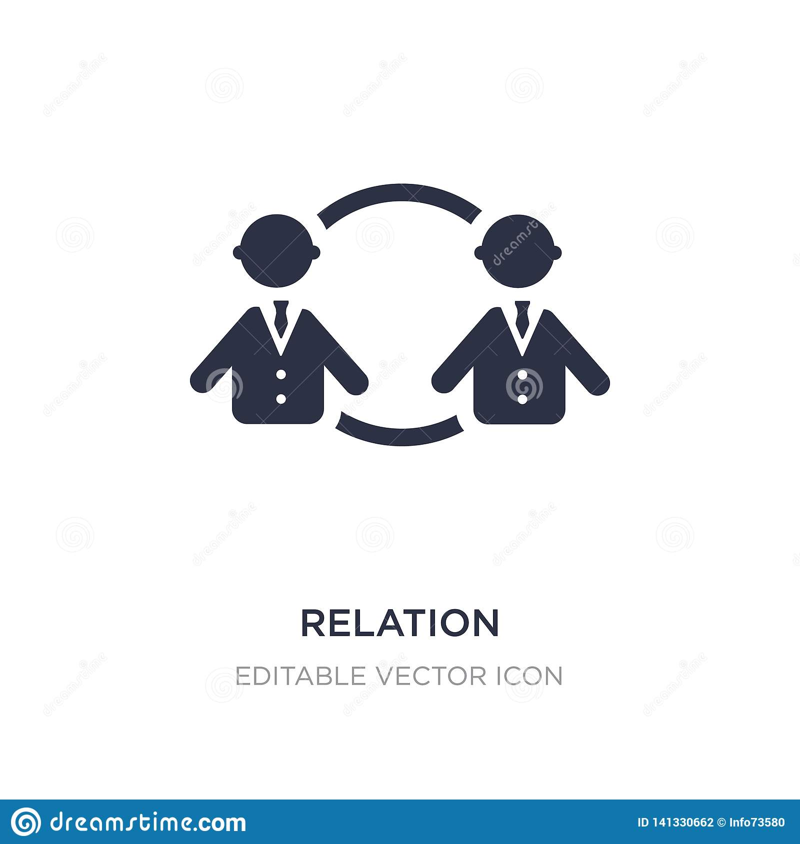 relation icon on white background. Simple element illustration from People concept