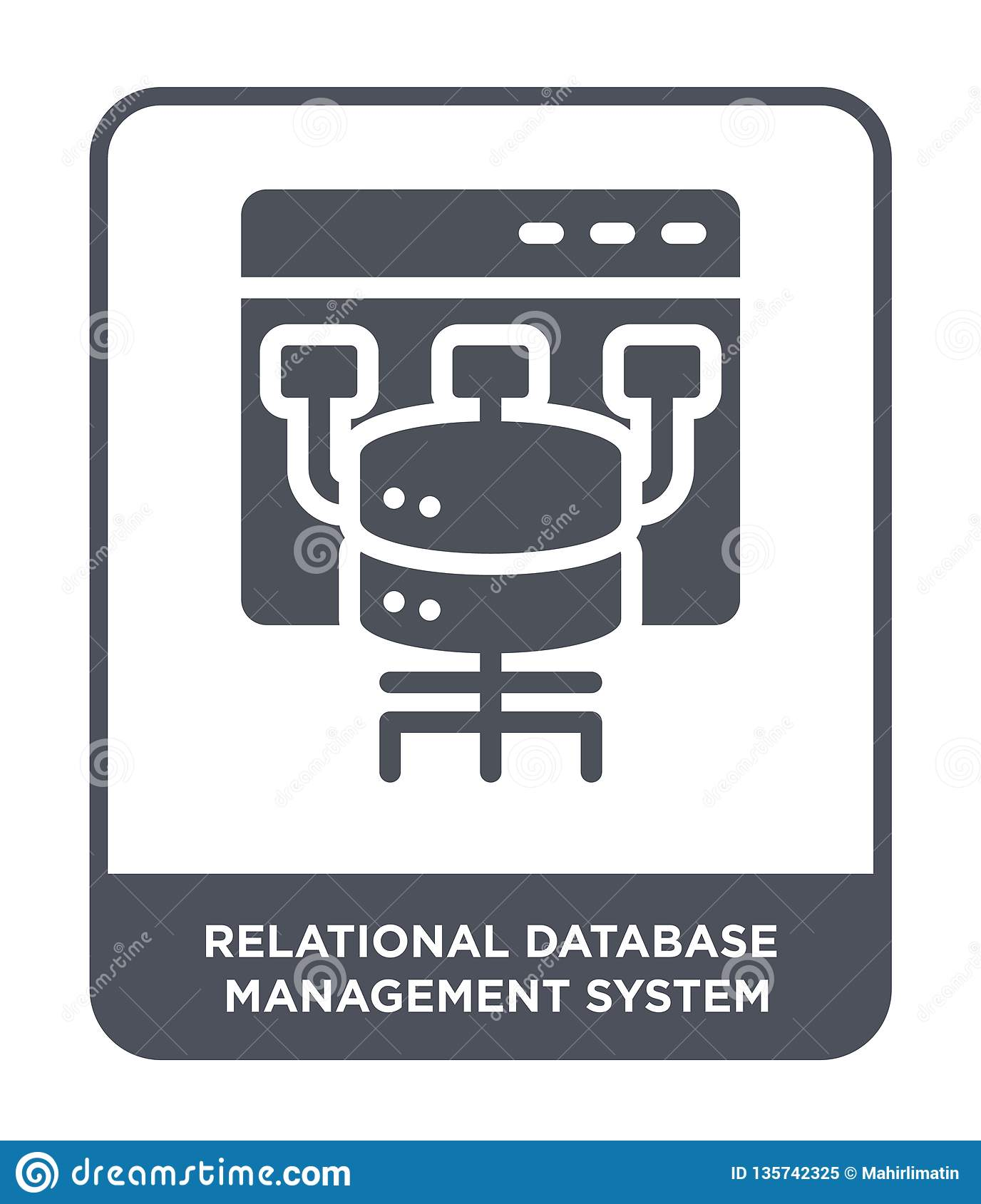 relational database management system icon in trendy design style. relational database management system icon isolated on white