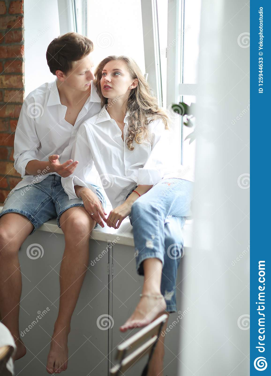 Beautiful Couple Stock Image Image Of Dating Home 125944633