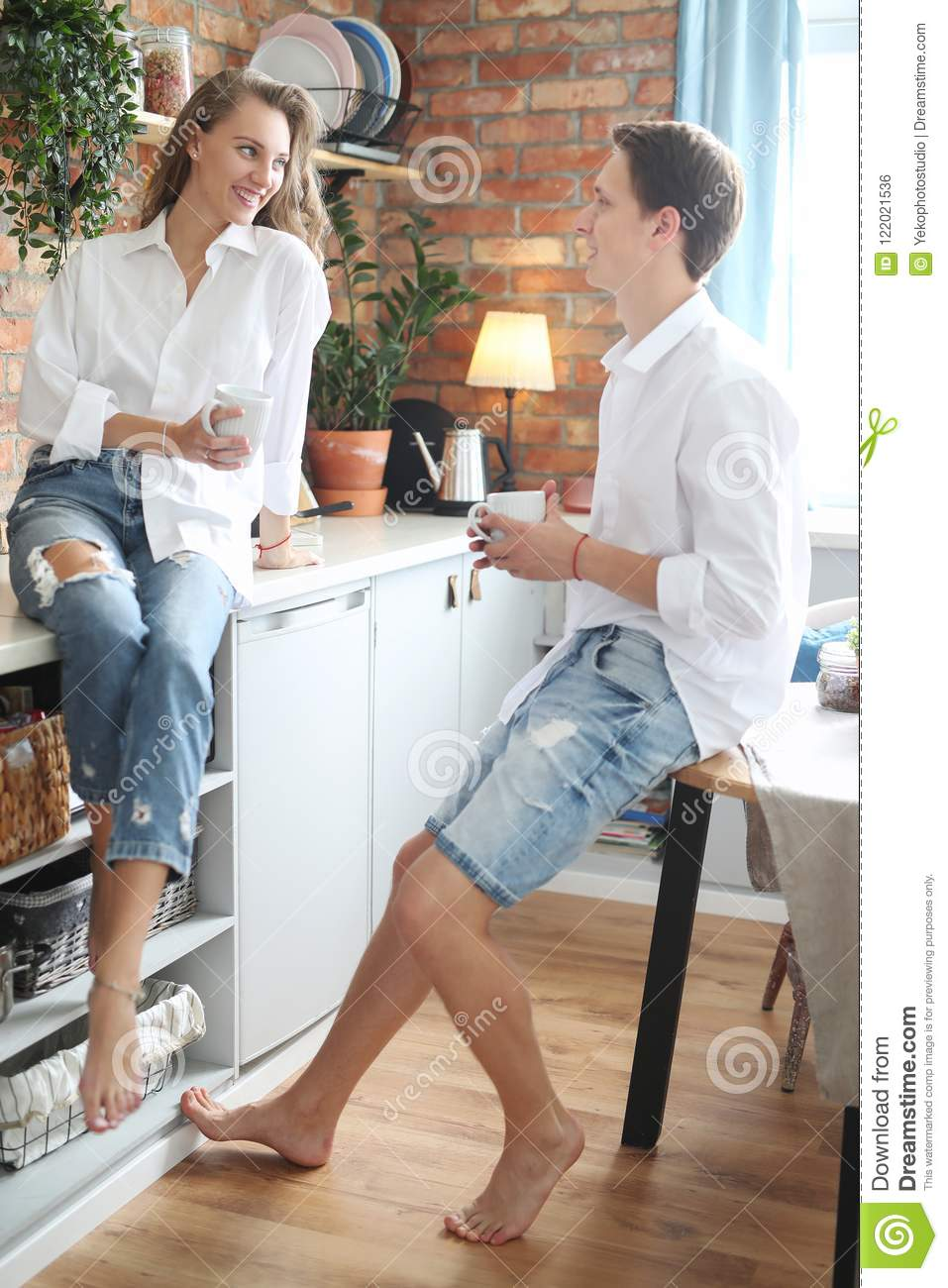 Lovely Couple At Home Stock Photo Image Of Boyfriend 122021536