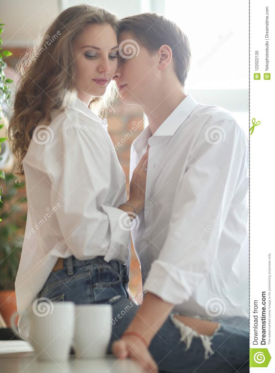 Lovely Couple At Home Stock Image Image Of Apartment 122022135