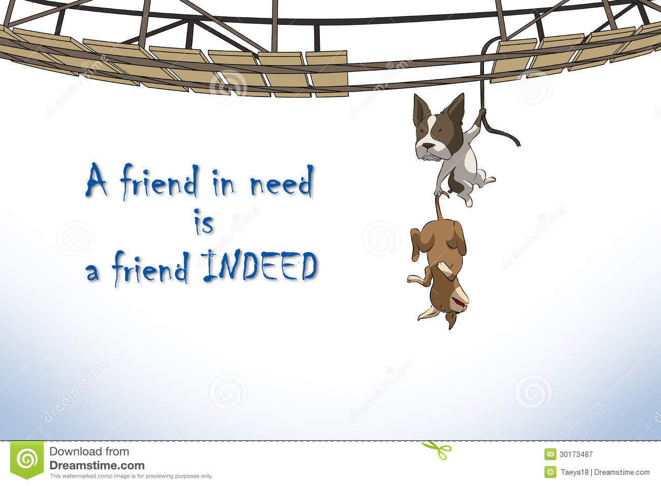 Resultado de imagen de a friend in need is a friend indeed español