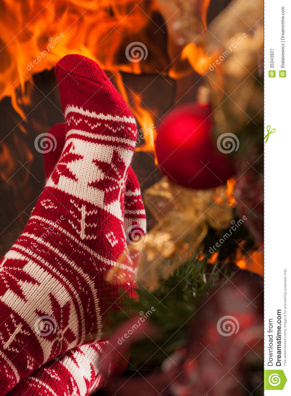 Relax In Christmas Ambiance Royalty Free Stock