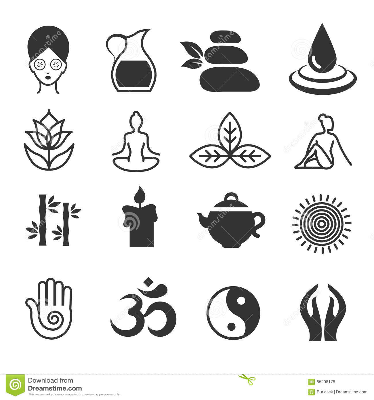 Relax icons vector yoga health and spa symbols zen skin care yoga health and spa symbols zen skin care biocorpaavc Gallery