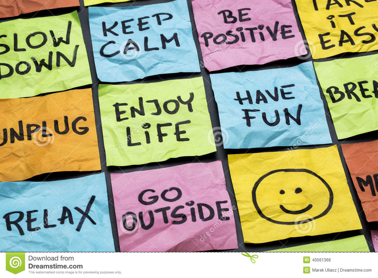 Relax Keep Calm Enjoy Life Stock Photo Image Of Lifestyle