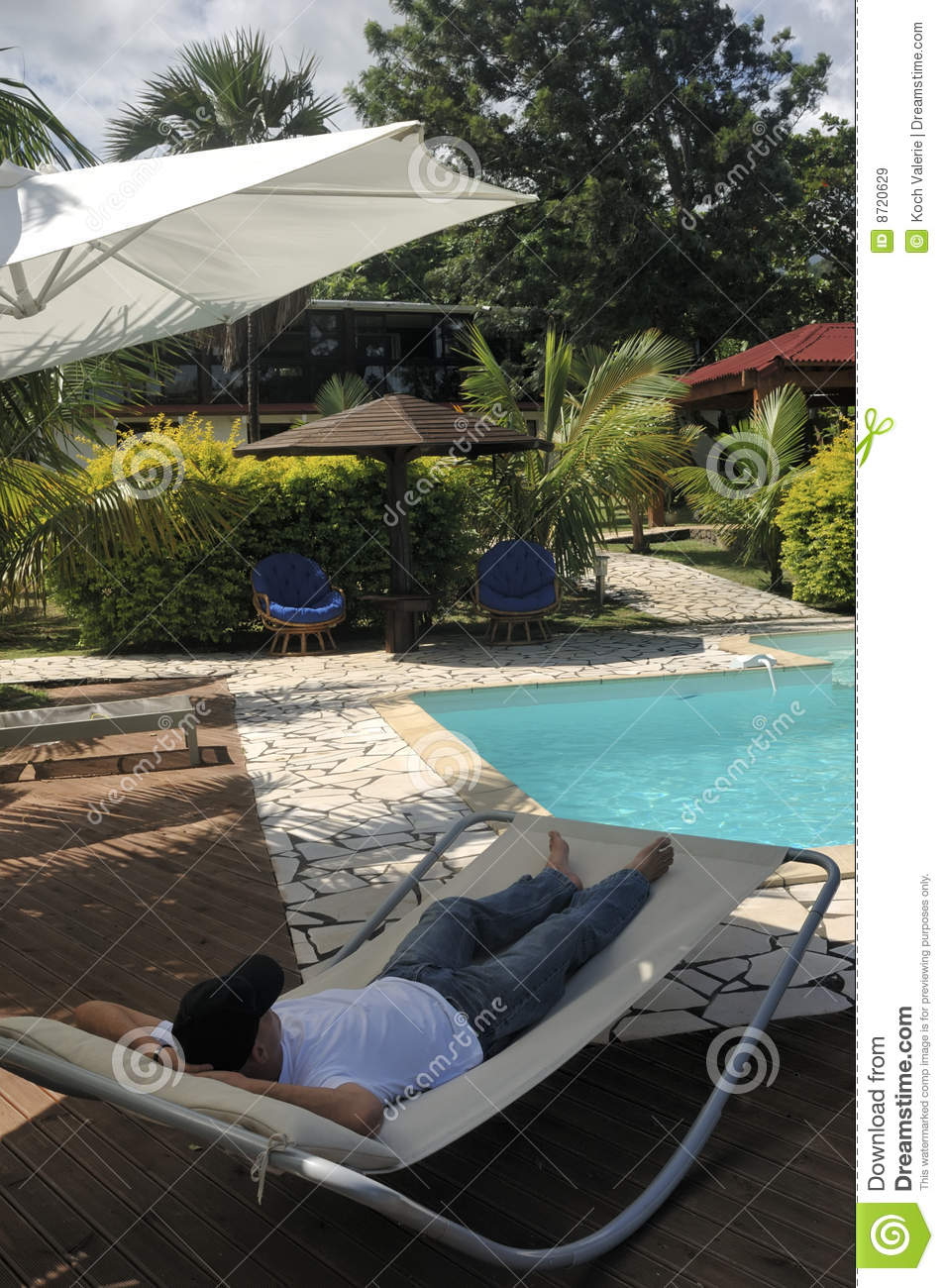 Free Swimming Pool: Relax At Swimming Pool Royalty Free Stock Images