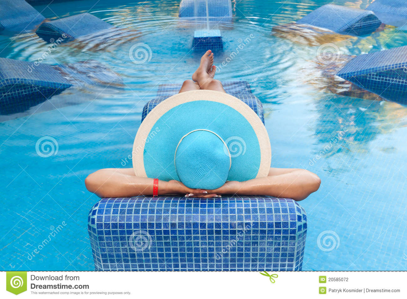 Relax on swimming pool bed stock photography image 20585072 for Swimming pool bed