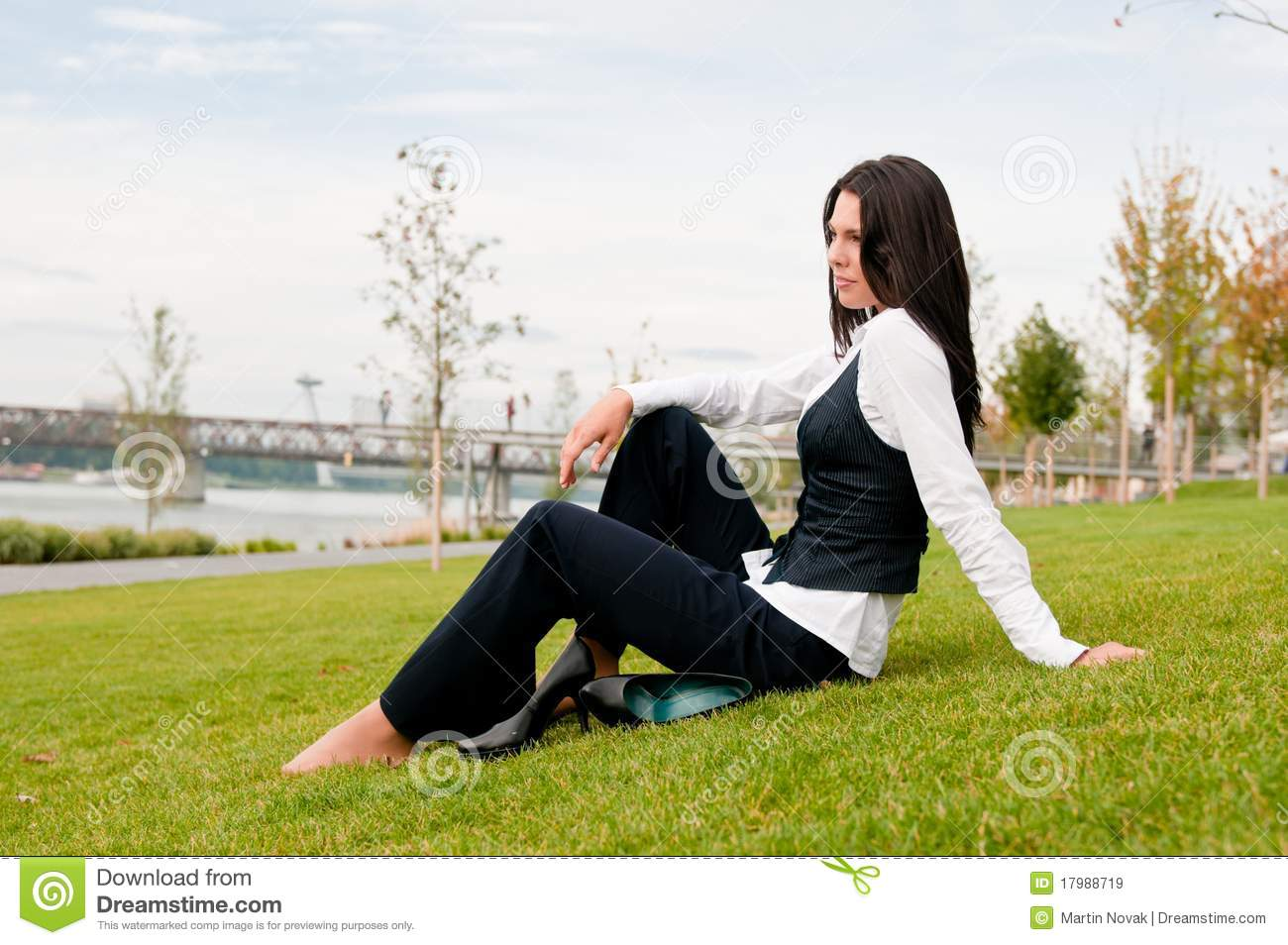 Relax During Work - Business Person Royalty Free Stock ...  |Relaxed Business Person