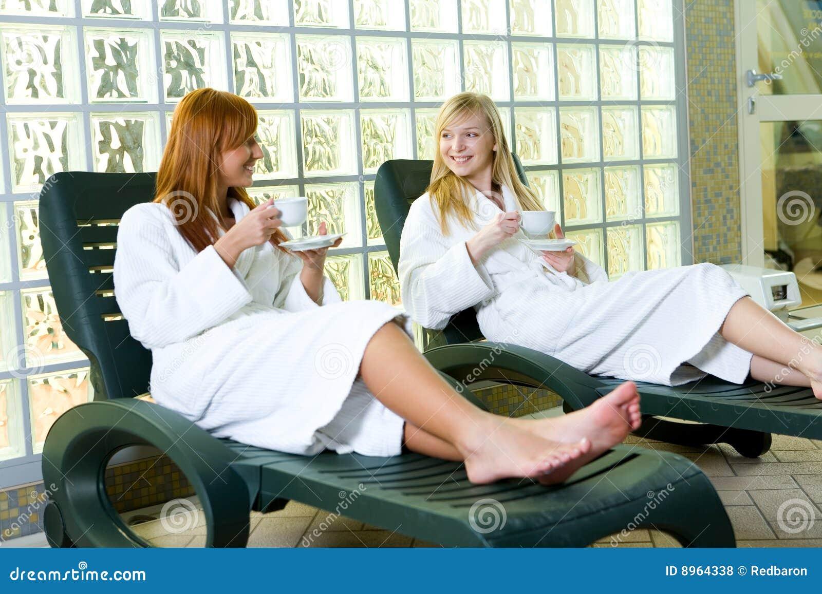 Relaxamento em um deckchair