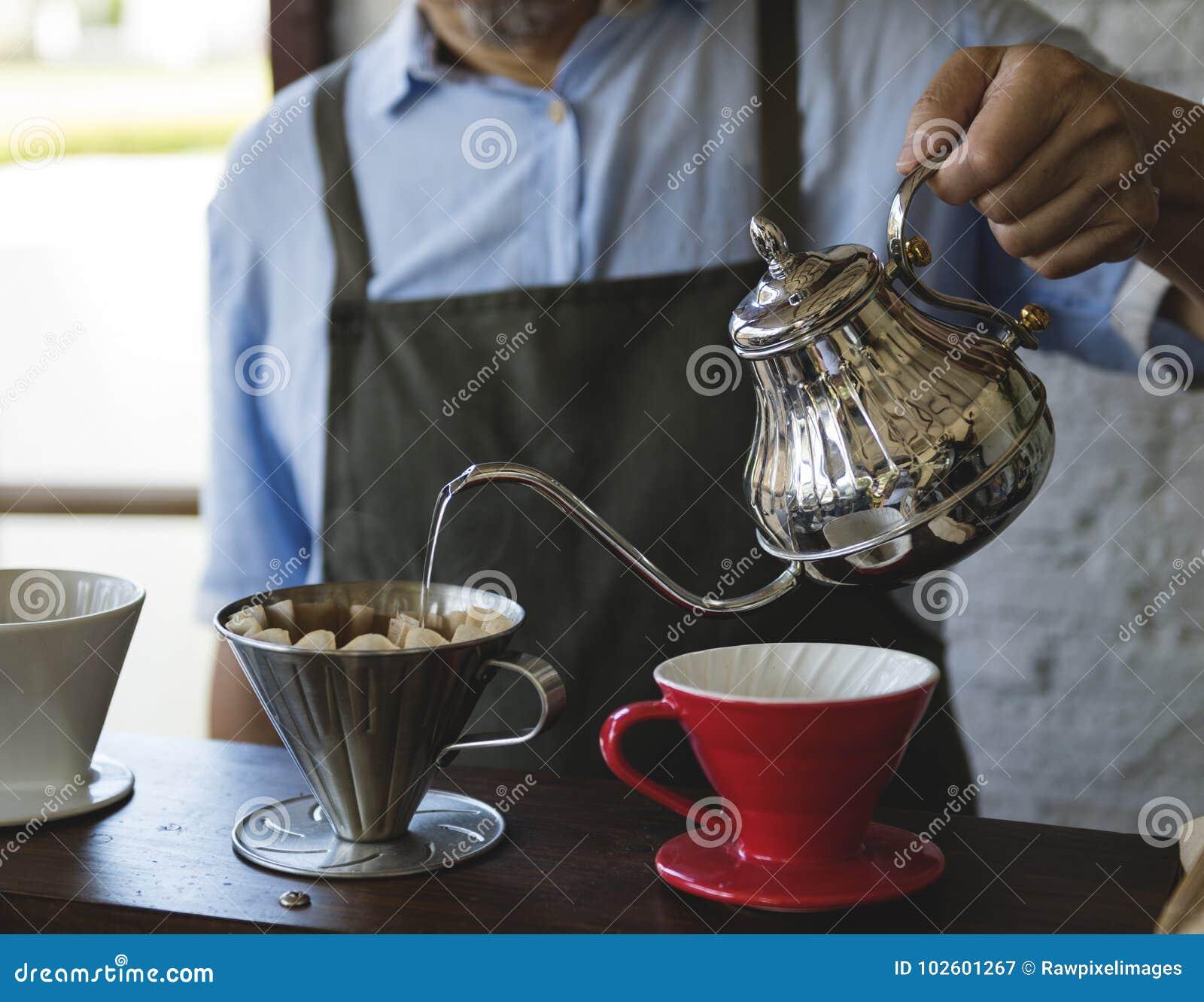Relaxation de Cafe Caffeine Drink de barman de boisson
