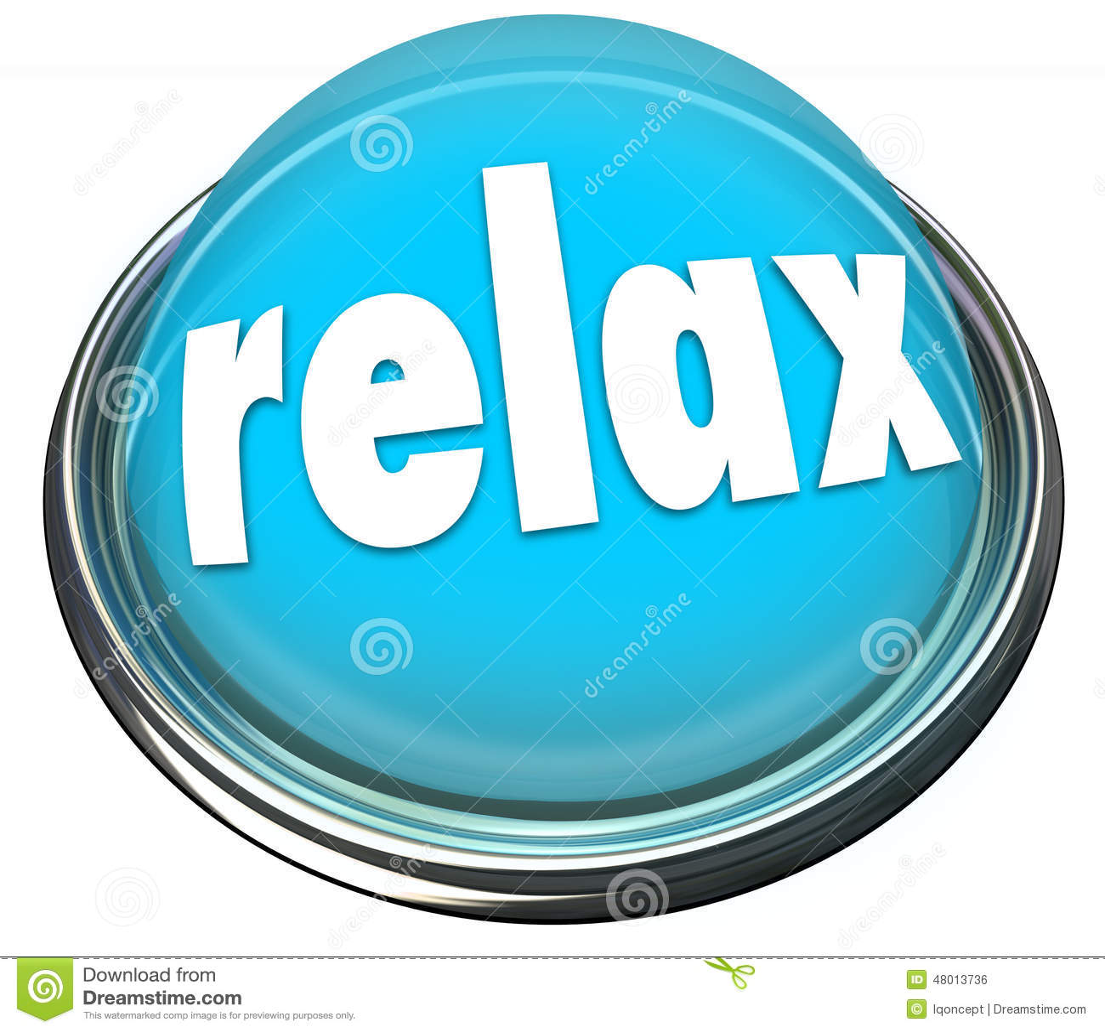 Relaxe acalmam para baixo a luz azul do botão refrigeram fora o resto