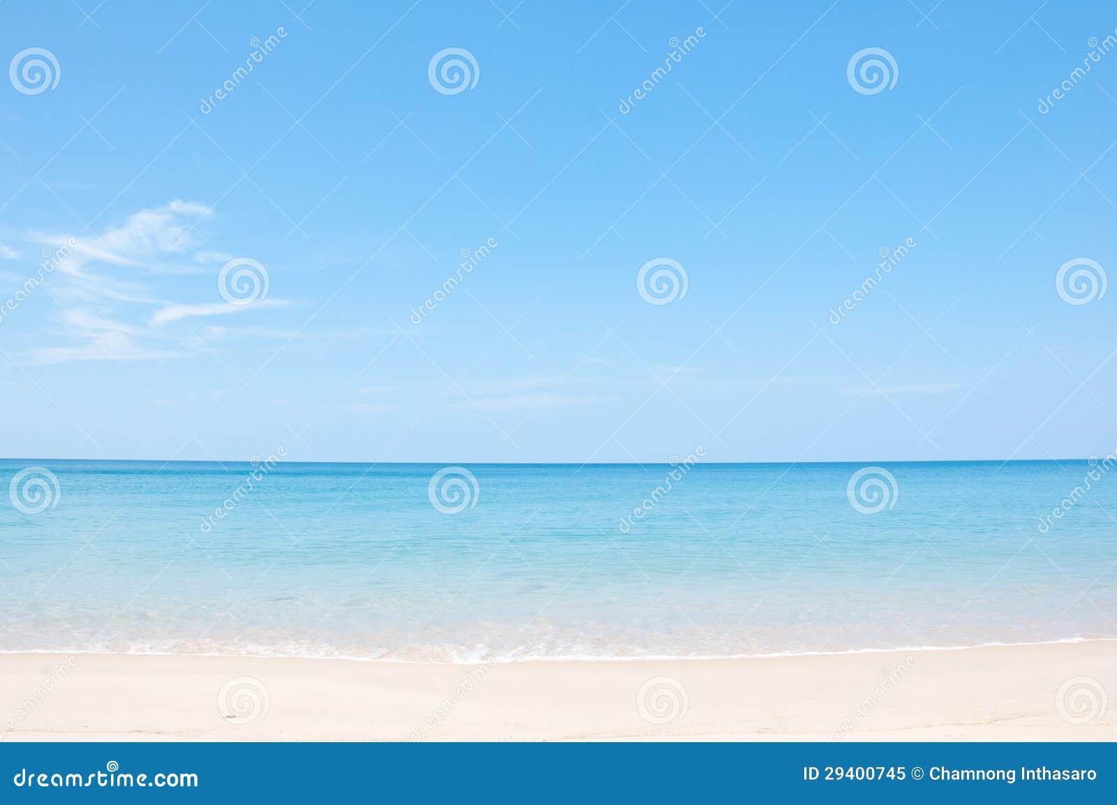 Relaxe na praia e no mar tropical