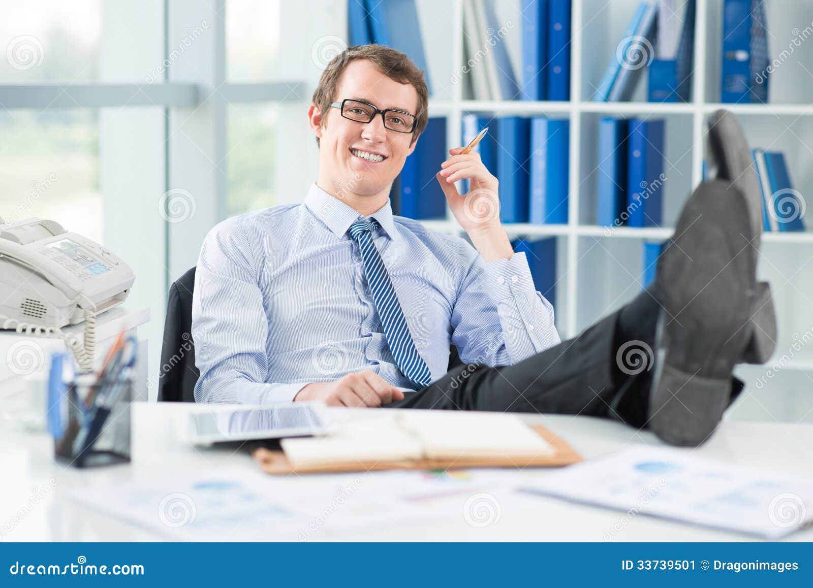 Relaxed бизнесмен
