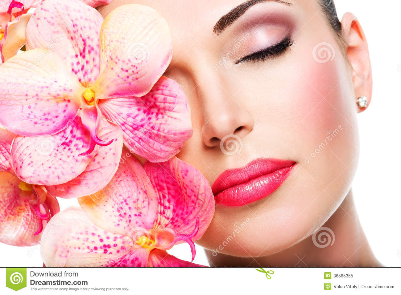 Beautiful Stock Images Relaxed beautiful face of a