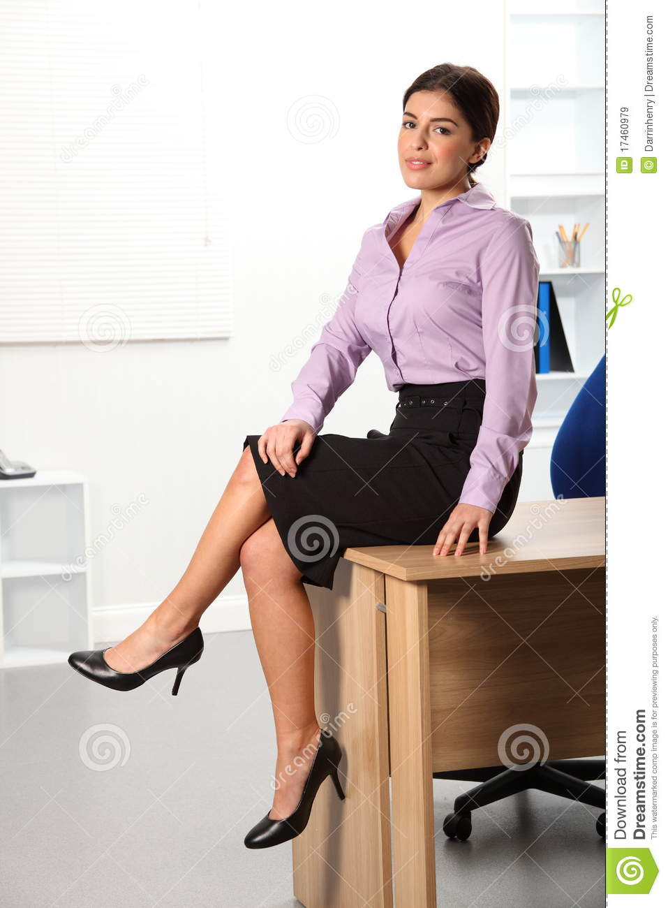 Relaxed beautiful young business woman sitting on royalty free stock images image 17460979 - Desk girl image in ...