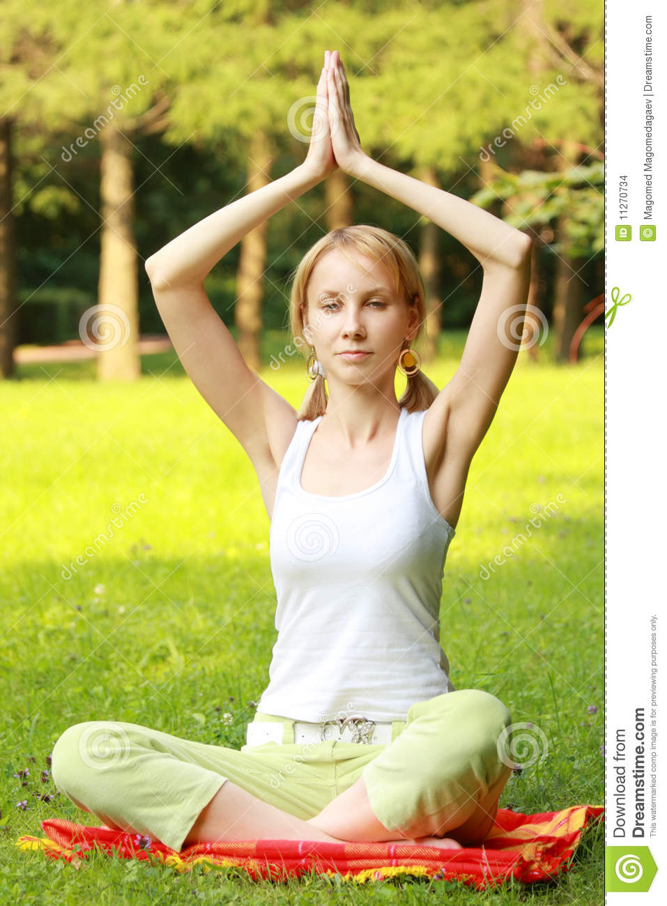 More similar stock images of relaxed blonde in yoga pose