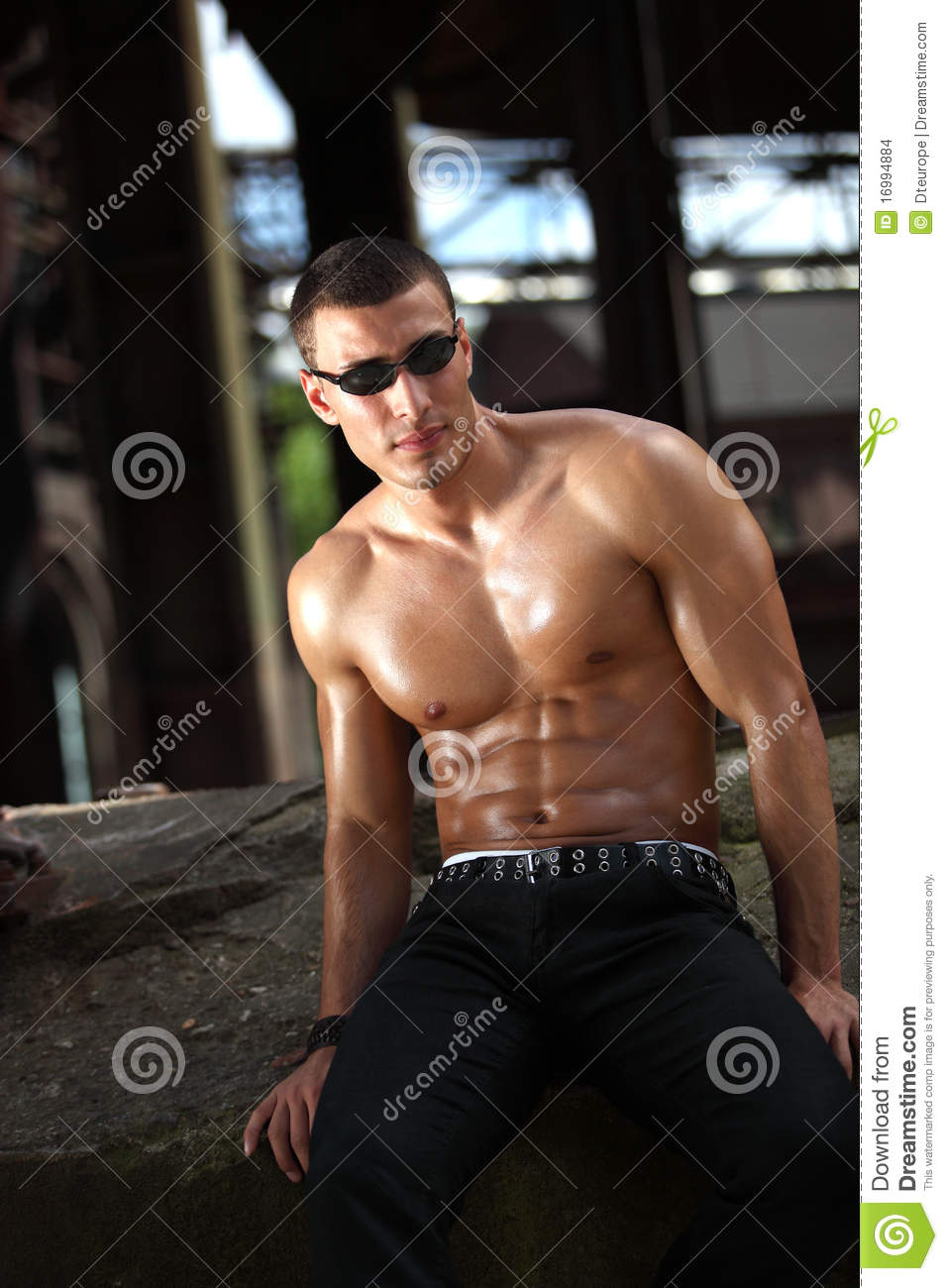 Relaxed Bodybuilder Stock Images - Image: 16994884