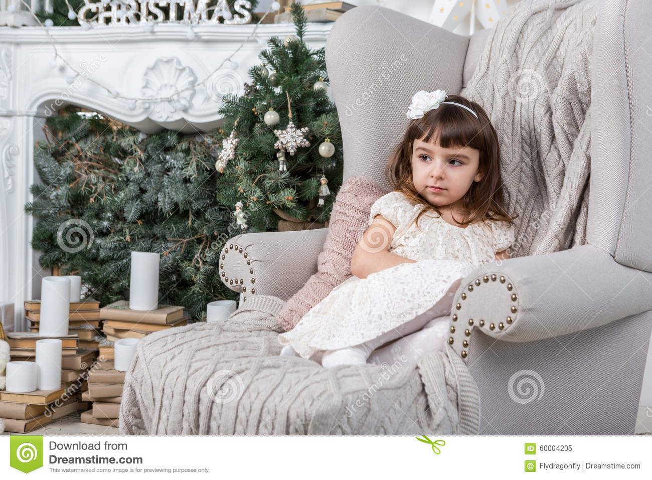 Relaxed Calm Little Girl Stock Image Image Of Aristocratic 60004205