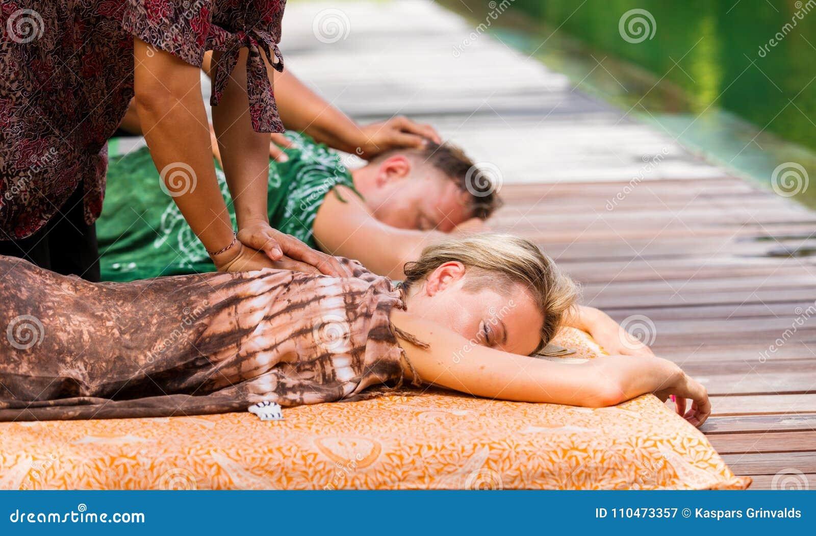 Boy gets massage
