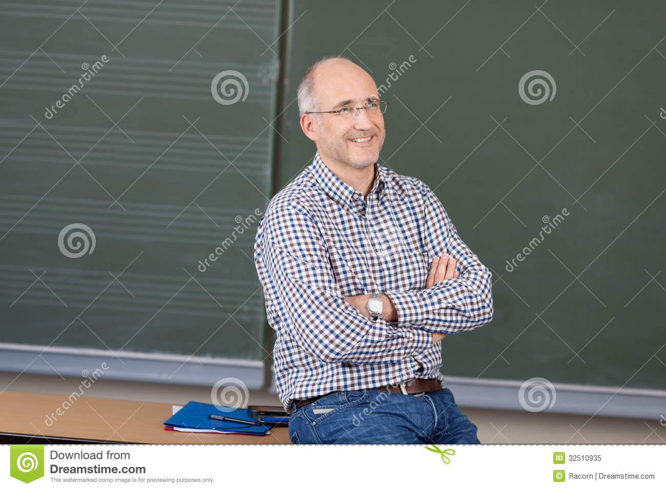 Relaxed Friendly Male Teacher Stock Image Image Of