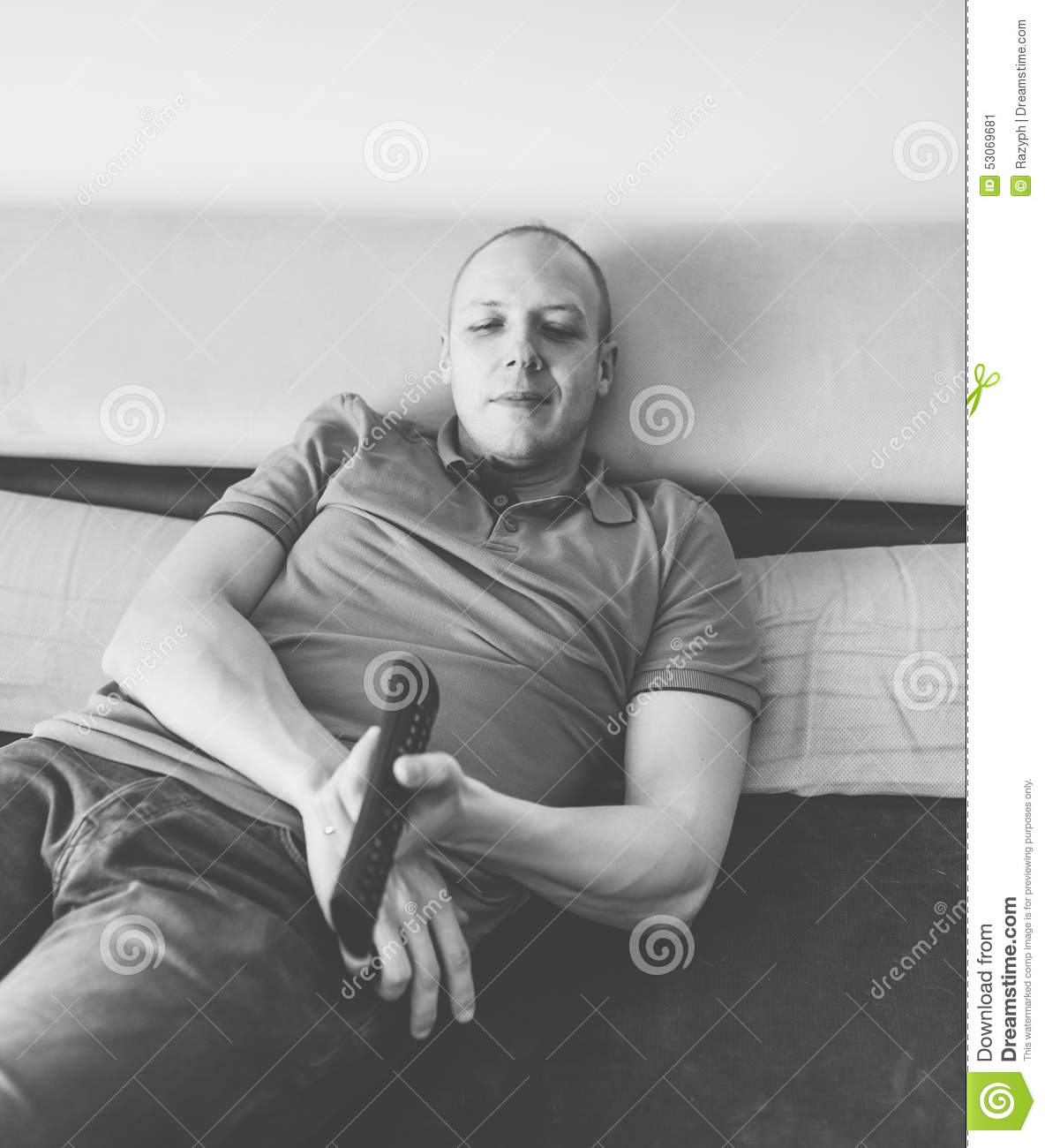Relaxed Man Stock Photo - Image: 53069681
