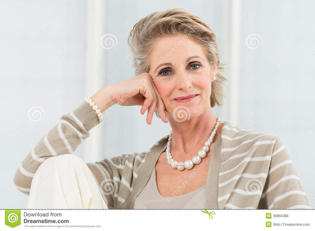 Relaxed Mature Woman Stock Photo Image 39865386