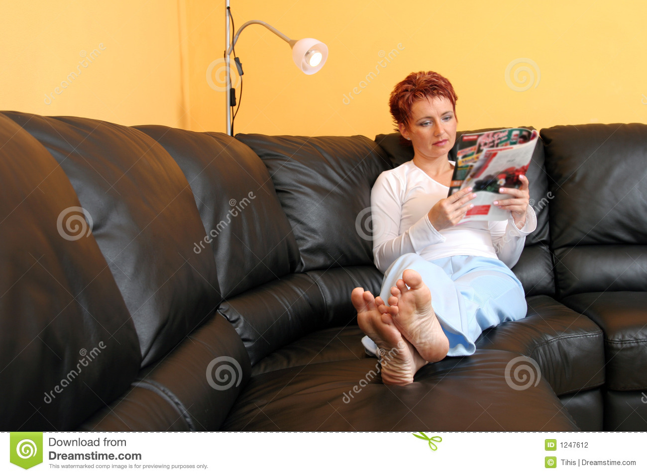 Relaxed Woman Stock Photography Image 1247612