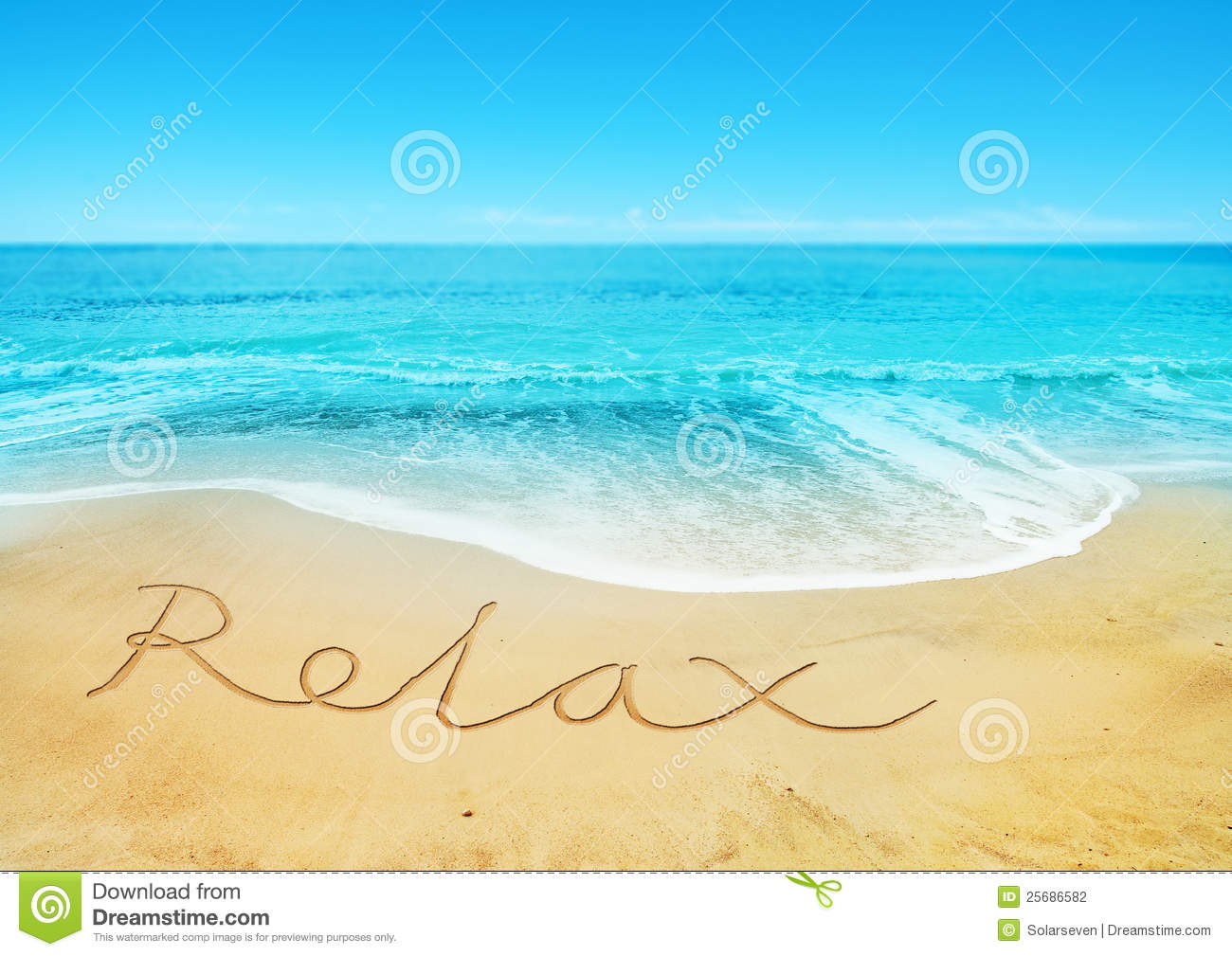Relaxing Beach Stock Photography Image 25686582